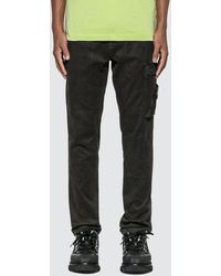 Stone Island Slim Fit Pants With Pocket - Black