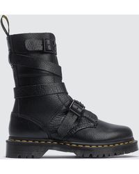 Dr. Martens - 10 Eye Boots With Strap - Lyst