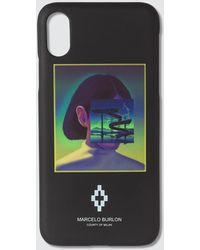 Marcelo Burlon Graphic Print Iphone Xs Case - Black