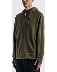C.P. Company - Diagonal Raised Fleece Goggle Hoodie - Lyst