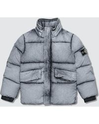 Stone Island - Degrade Puffer Jacket With Packable Hoodie (infant) - Lyst