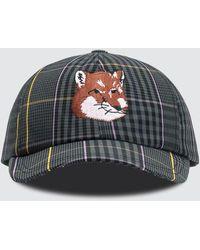 Maison Kitsuné Fox Head Embroidered Cap - Multicolor