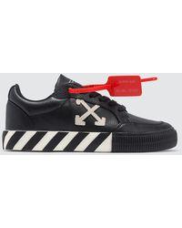 Off-White c/o Virgil Abloh Vulc Striped Low-top Canvas Sneakers - Black