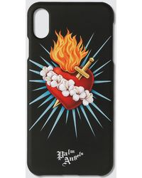 Palm Angels Sacred Heart Iphone Case Xs Max - Black