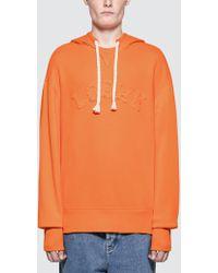 Loewe Logo Hoodie - Orange