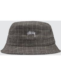Stussy - Glen Plaid Bucket Hat - Lyst