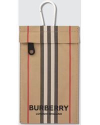 Burberry Iconic Stripe Pouch - Natural