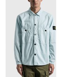 Stone Island Double Pocket Button Shirt - Blue