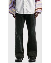 Raf Simons Flared Denim Workwear Pants - Black
