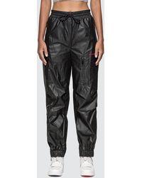 Alexander Wang Chynatown Pleather Nylon Track Pants - Black