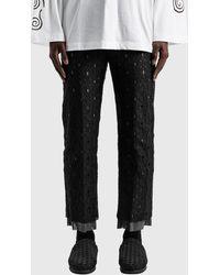 """Sasquatchfabrix """"mayoke"""" Lace Straight Pants - Black"""