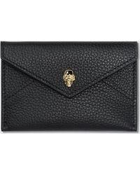 Alexander McQueen - Skull Envelope Leather Card Holder - Lyst