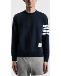 Thom Browne 4-bar Classic Crewneck Sweatshirt - Grey