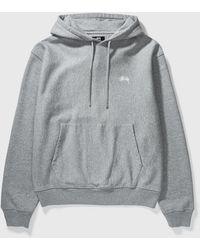 Stussy Stock Logo Hoodie - Grey