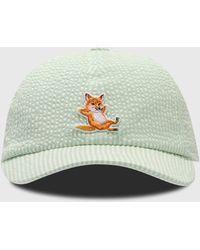 Maison Kitsuné Chillax Fox Cap - Green