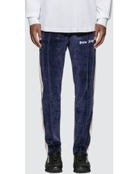 Palm Angels Chenille Track Trousers - Blue