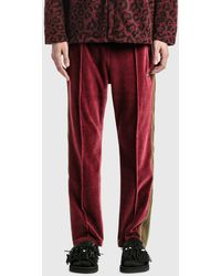 Needles Velour Narrow Track Trousers - Red