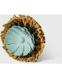 Loewe Stud Flower Charm - Brown