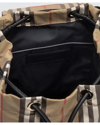 Burberry Small Rucksack Nylon Backpack - Natural