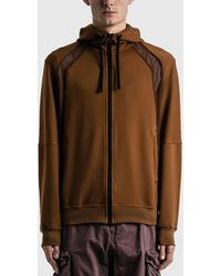 Stone Island Shadow Project Vented Zip Hoodie - Brown