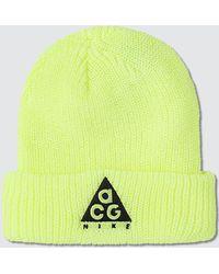 7efb1613f Nike Synthetic Acg Beanie A14 In Black/yellow Ochre for Men - Lyst