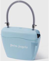 Palm Angels Blue Padlock Shoulder Bag