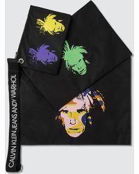 Calvin Klein - Warhol Self Portraits Triple Pouch With Strap - Lyst