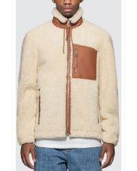 Loewe Shearling Jacket For Men - White