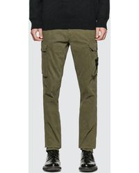 Stone Island Slim Fit Cargo Trousers - Green