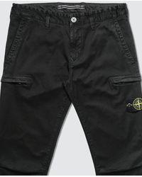 Stone Island Slim Cotton Cargo Pants - Black