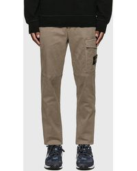 Stone Island Slim Cotton Twill Trousers - Grey
