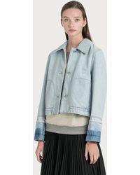 Loewe Button Denim Jacket - Blue