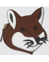 Maison Kitsuné - Leather Fox Head Coin Purse - Lyst