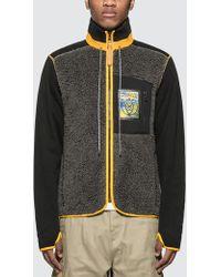 Loewe Eln High Neck Fleece Jacket - Gray