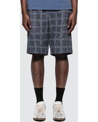 JW Anderson - Elasticated Waistband Logo Grid Cotton Shorts - Lyst