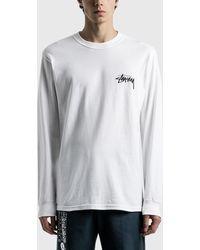 Stussy Ocular Long Sleeve T-shirt - White