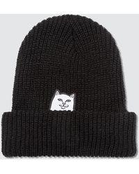 RIPNDIP Lord Nermal Knit Beanie - Black