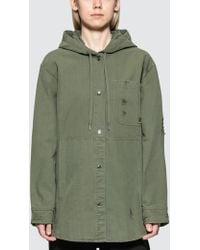Alexander Wang - Pyjama Utility Hooded Oversized Shirt - Lyst