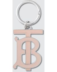 Burberry Monogram Motif Gold-plated Key Charm - Pink