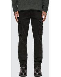 Stone Island Slim Fit Cargo Trousers - Black