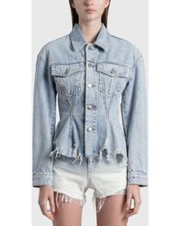 T By Alexander Wang Sculpted Flare Jacket - Blue