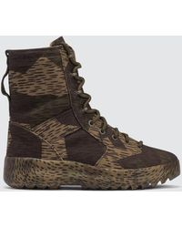 Yeezy - Military Boot In Washed Canvas - Lyst