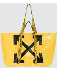Off-White c/o Virgil Abloh Arrows Logo Tote Bag - Yellow