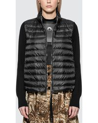Moncler - Down Jacket With Knitted Sleeves - Lyst
