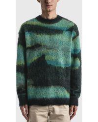 Acne Studios Klinac Knit Pullover - Blue