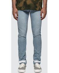 Off-White c/o Virgil Abloh Bleach Slim Denim Nikel Jeans - Blue