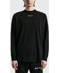 Palm Angels Tokyo Sprayed Long Sleeve T-shirt - Black