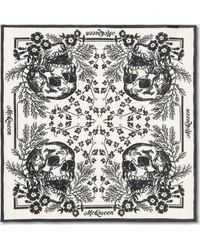 Alexander McQueen Biker Skull Scarf - White