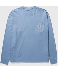 Carhartt WIP Pocket Long Sleeve T-shirt - Blue