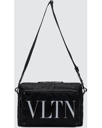 Valentino - Vltn Rock Stud Nylon Messenger - Lyst